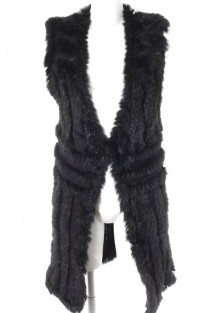 Pinko Long Knitted Vest black fluffy