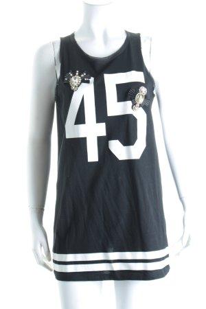 Pinko Longtop schwarz-weiß Schriftzug gedruckt sportlicher Stil
