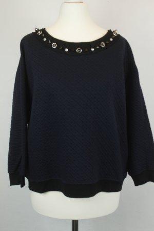 Pinko Pullover Sweatshirt Gr. XS cropped oversized(18/10/275/R)