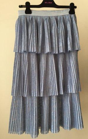 Pinko Jupe à plis bleu azur polyamide