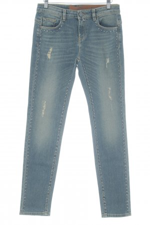 Pinko Tube jeans leigrijs-lichtgeel casual uitstraling