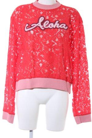 Pinko Jersey de cuello redondo rojo claro-rosa look casual