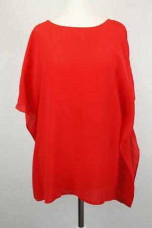 PINKO Seidenbluse Bluse Gr. 38 rot Seide oversized