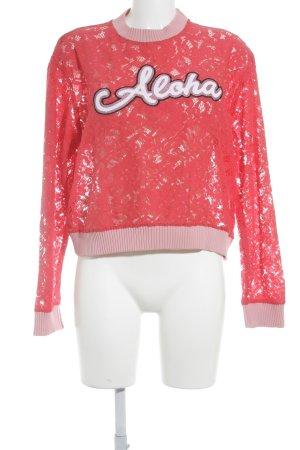 Pinko Spitzenbluse rot-rosa Romantik-Look