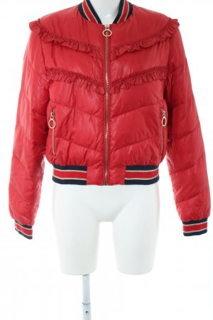 Pinko Steppjacke rot Steppmuster Casual-Look