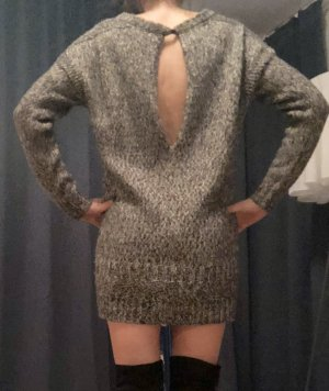 Pinko Knitted Dress black-dark grey wool