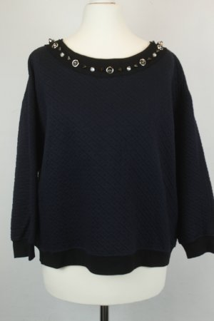 Pinko Suéter negro-azul tejido mezclado