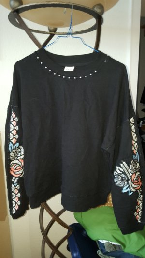 Pinko Sweatshirt Pailletten + Nieten Gr.40 (XL) *Top*