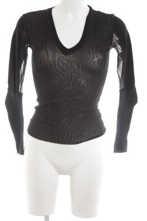 Pinko V-Ausschnitt-Shirt schwarz Party-Look
