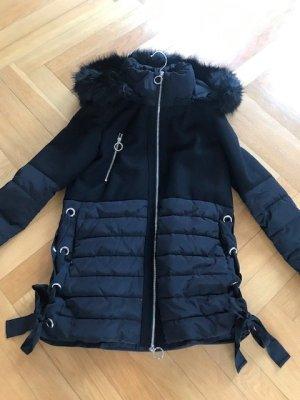 Pinko Outdoor Jacket black synthetic fibre