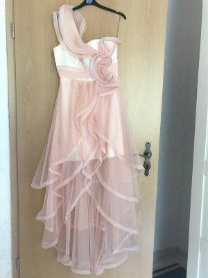 Pinkweißfarbiges Kleid