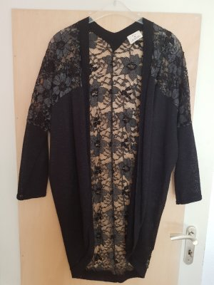 Pins and Needles Cardigan mit Spitze Schwarz Urban Outfitters