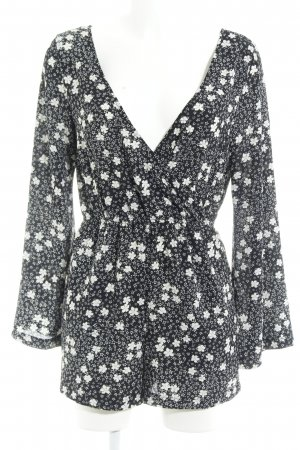 Pins and Needles Combinaison noir-blanc motif de fleur élégant