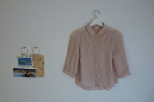 Pins and Needles Seidenbluse S 36 38 rosa nude Designer Fashion Blogger