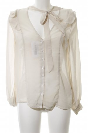 Pins and Needles Transparenz-Bluse wollweiß Casual-Look