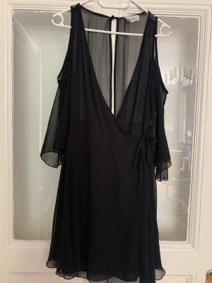 Pins and Needles Wraparound Blouse black