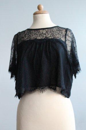 Pins and Needles Kanten blouse zwart