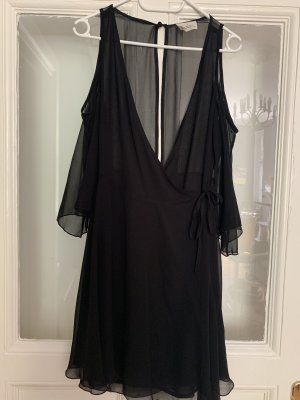 Pins and Needles Wraparound Blouse black
