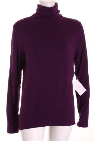 Pioneer Rollkragenshirt violett Casual-Look