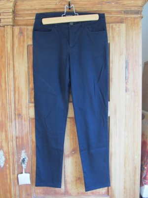 Hallhuber Pantalon 7/8 bleu foncé coton
