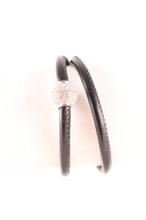 Pippa & Jean Armband schwarz-silberfarben Glitzer-Optik
