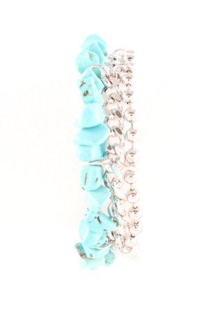Pippa & Jean Armband silberfarben-türkis Casual-Look