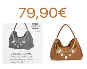 Pippa&Jean Ginger Chain Bag Shopper Tasche Echtleder