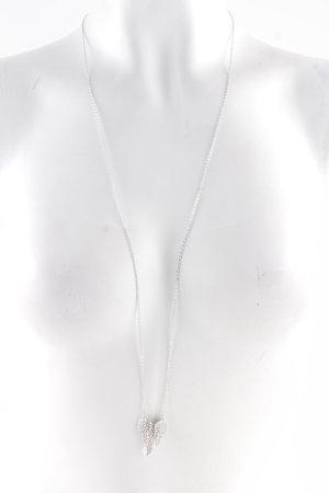 Pippa & Jean Halskette silberfarben Herzmuster Elegant