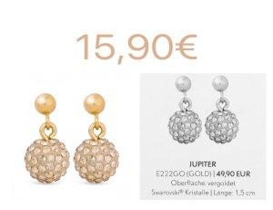 Pippa&Jean Jupiter Ohrstecker Gold Swarovski