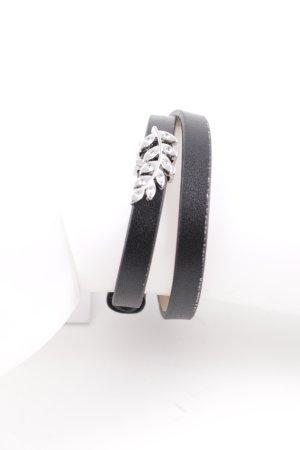 Pippa & Jean Leather Bracelet black elegant