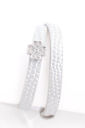 Pippa & Jean Braccialetto di cuoio argento motivo animale stile semplice