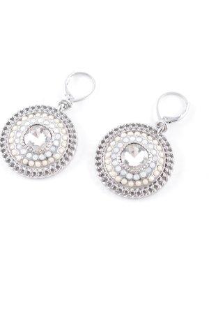 Pippa & Jean Orecchino a pendente argento-crema elegante