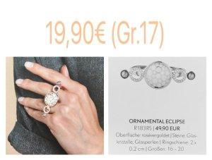 Pippa&Jean Ornamental Eclipse Doppelringschiene Roségold