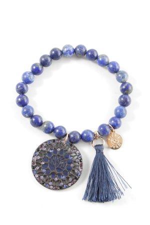 Pippa & Jean Pearl Bracelet blue-lilac color gradient casual look