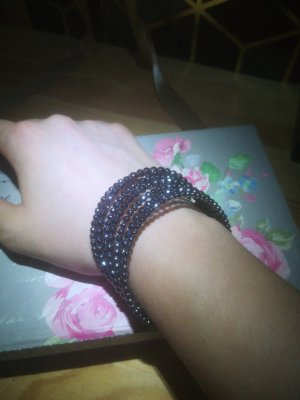 Pippa & Jean Schwarzes Swirl Armband