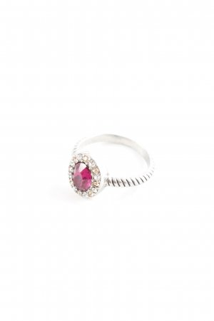 Pippa & Jean Silver Ring silver-colored-magenta extravagant style