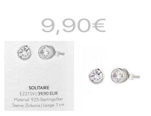 Pippa & Jean Orecchino d'argento argento Argento