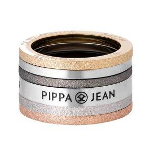 Pippe & Jean Ring Plurality Multi Ring Edelstahl