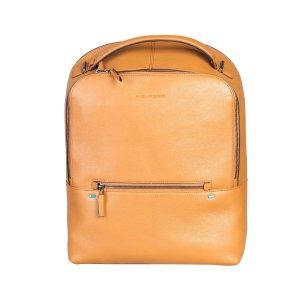 Piquadro Mochila para portátiles naranja dorado-naranja claro Cuero