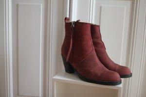 Acne Studios Low boot rouge foncé-noir cuir