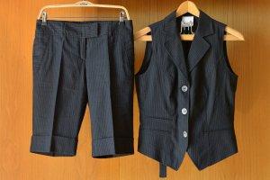 PIU PIU Bermudashorts Anzug Shorts Weste Nadelstreifen Leinen Gr.38