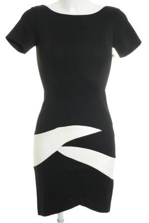 Piú & Piú Bleistiftkleid schwarz-weiß abstraktes Muster Business-Look