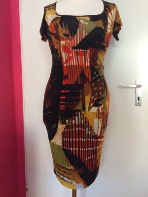 Piu & Piu braun-rotes Kleid