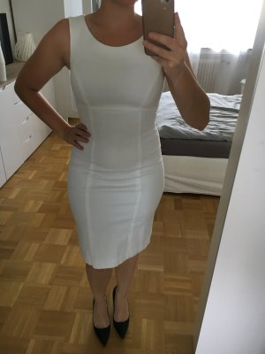 Piú & Piú Vestido ceñido de tubo blanco
