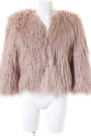 Piú & Piú Giacca di pelliccia rosa Stile anni '90