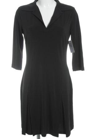 Piú & Piú Jerseykleid schwarz Elegant