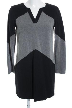 Piú & Piú Jerseykleid schwarz-grau meliert schlichter Stil