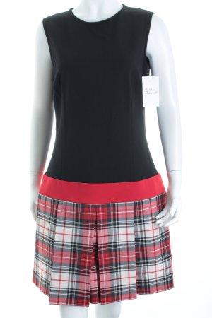 Piú & Piú Jerseykleid schwarz-rot Karomuster Brit-Look