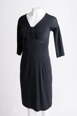 PIÚ & PIÚ - Kleid mit Knoten im Brustbereich Schwarz