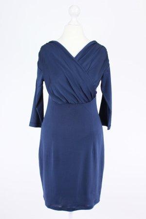 PIU & PIU Kleid mit V-Ausschnitt blau Größe S